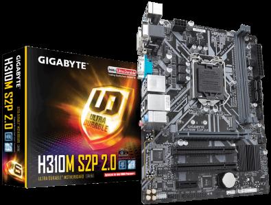 GIGABYTE H310M S2P, DDR3, SATA3, HDMI, USB3.1Gen1, LGA1151 mATX