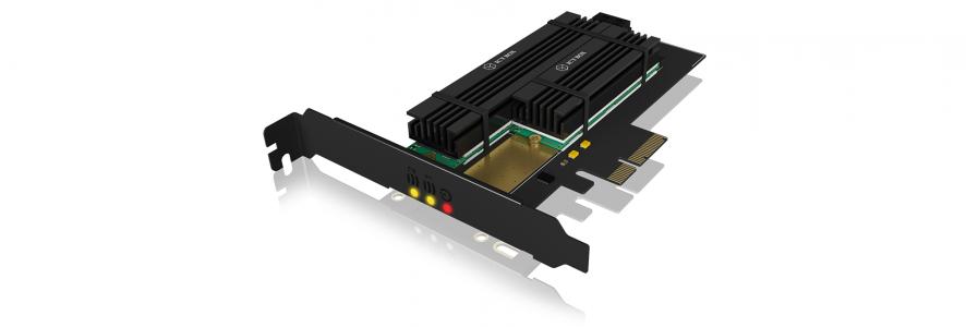 Icybox PCIe kartica za proširenje za 2x M.2 SSD-ove s hladnjakom