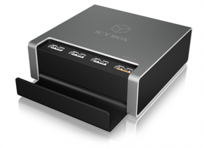 Icybox IB-CH405-QC3 4portni USB hitri polnilnik z QC 3.0 podporo