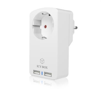 Icybox IB-CH204 utičnica za 2 USB punjače