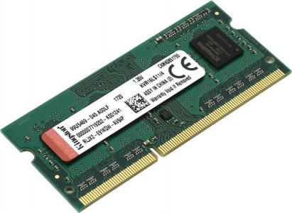 Kingston 4GB DDR3L-1600MHz SODIMM PC3-12800 CL11, 1,35 V / 1,5 V