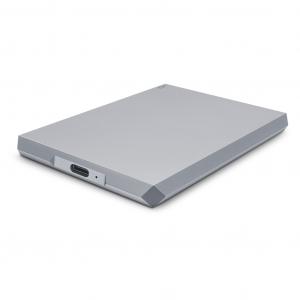 LaCie 2TB Mobile Drive, USB-C vanjski pogon sivi