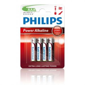 PHILIPS BATERIJA - AAA POWER ALKALINE BLISTER 4 KOS (R03)