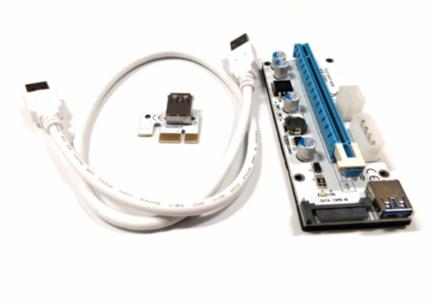 RISER V008S USB 3.0 x1-x16 60 cm