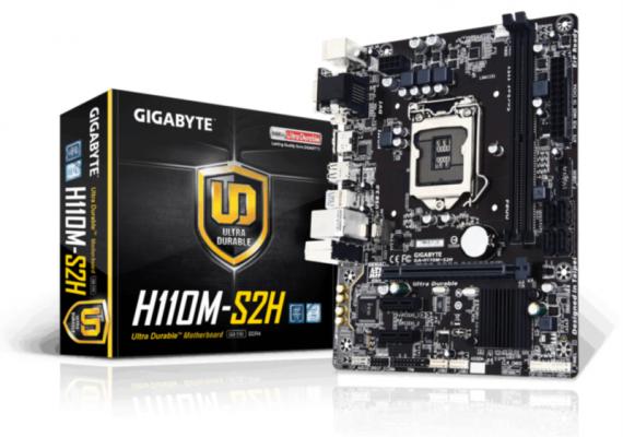 GIGABYTE GA-H110M-S2H, DDR3, SATA3, HDMI, USB3, LGA1151 mATX
