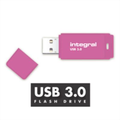 INTEGRAL NEON 16GB USB3.0 pink spominski ključek