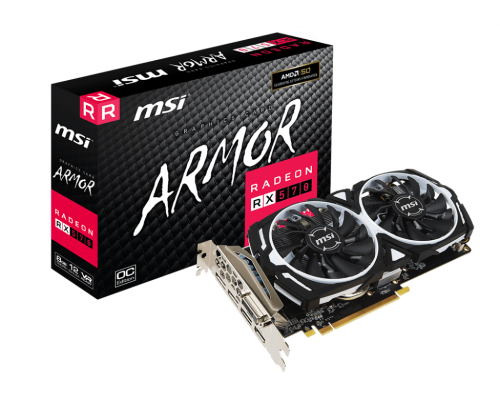 Grafička kartica MSI Radeon RX 570 Armor 8GB OC, 8GB GDDR5, PCI-E 3.0