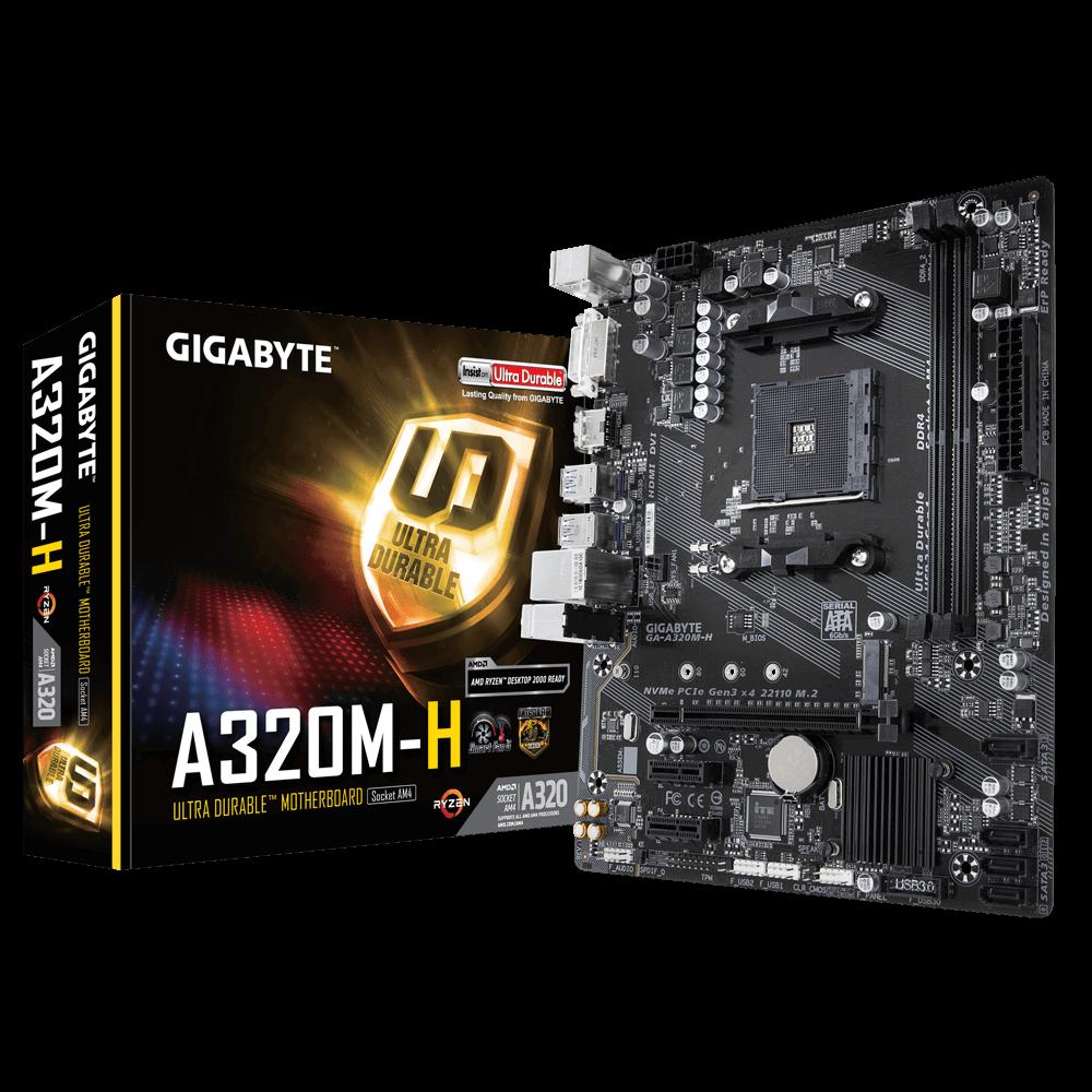 GIGABYTE GA-A320M-H, DDR4, SATA3, USB3.1Gen1, HDMI, AM4 mATX