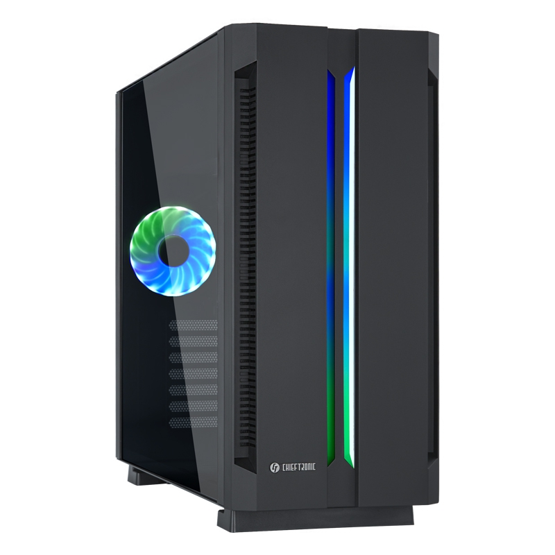 Chieftronic G1 RGB ATX ohišje + daljinski upravljalnik, črno