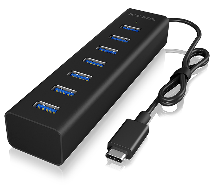 Icybox 7 portni USB 3.0 razširitveni hub z možnostjo polnjenja