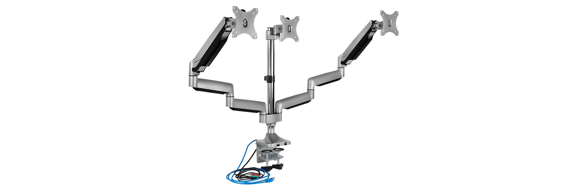 IcyBox trojni namizni nosilec za monitorja do diagonale 32''