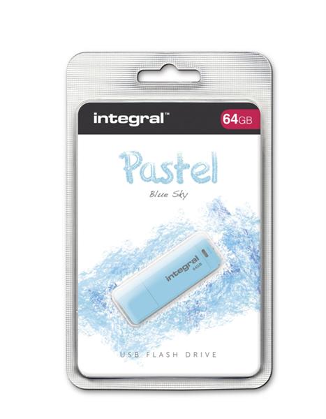 INTEGRAL PASTEL 64GB USB2.0 Blue Sky spominski ključek