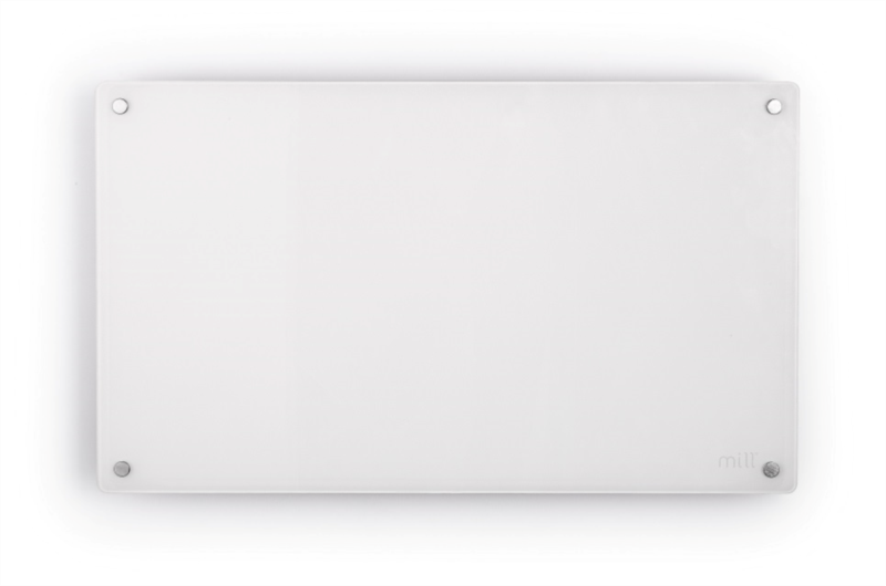 MILL panelni konvekcijski radiator 600W bel steklo X MB600DN