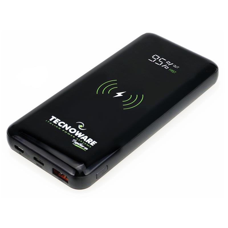 Tecnoware brezžična Qi Together On 10.000 mAh prenosna baterija
