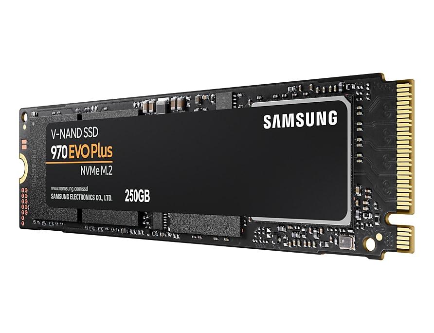Samsung 250GB 970 EVO Plus SSD NVMe M.2 disk